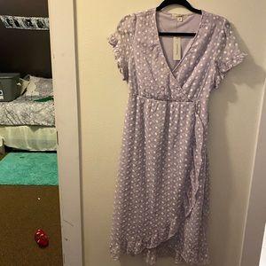 Lilac Wrap Dress